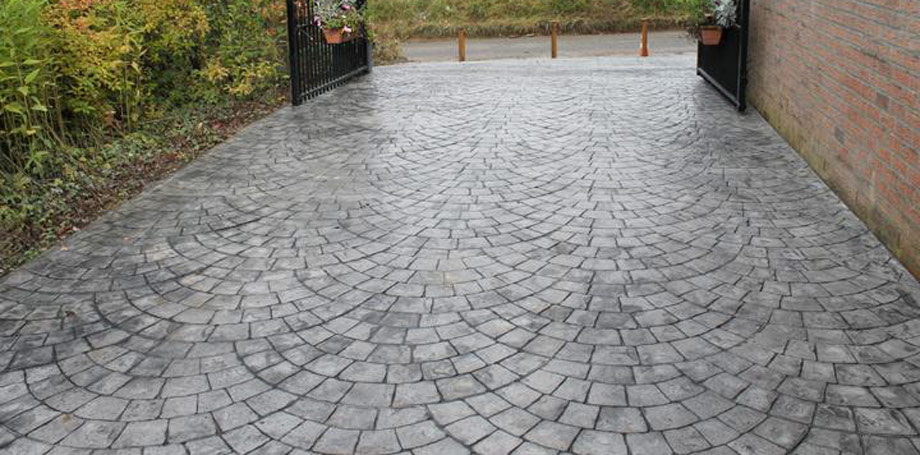 pavimento cemento estampado