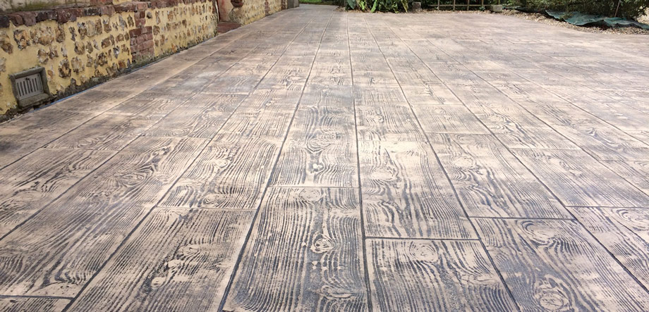 cemento impreso imitacion madera