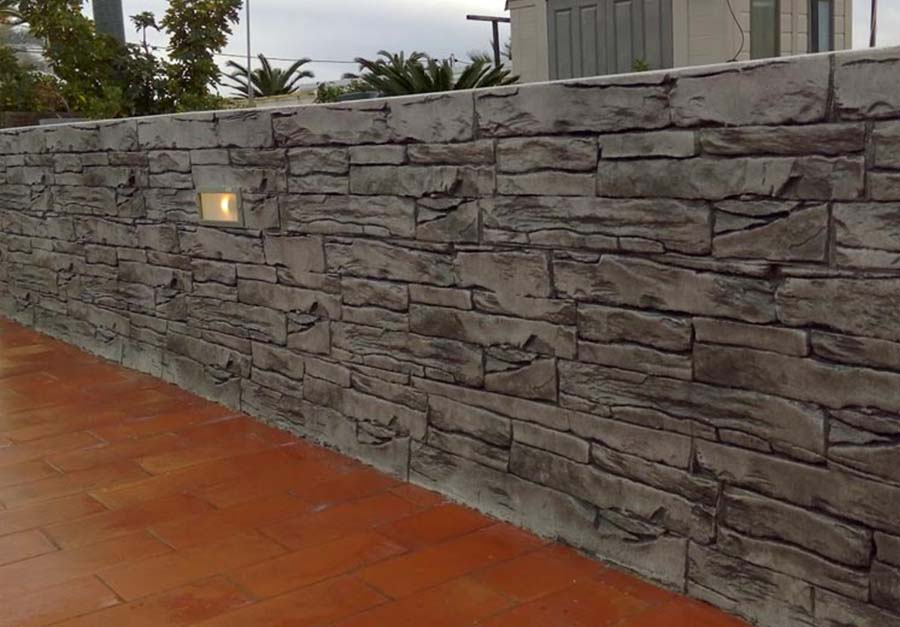 ¿Cómo hacer hormigón impreso vertical para muros y fachadas?