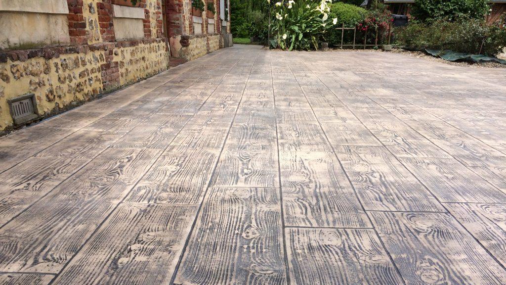 pavimento continuo impreso