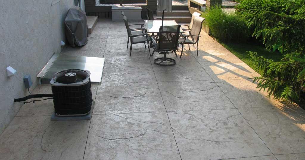 Hormigón impreso para terraza