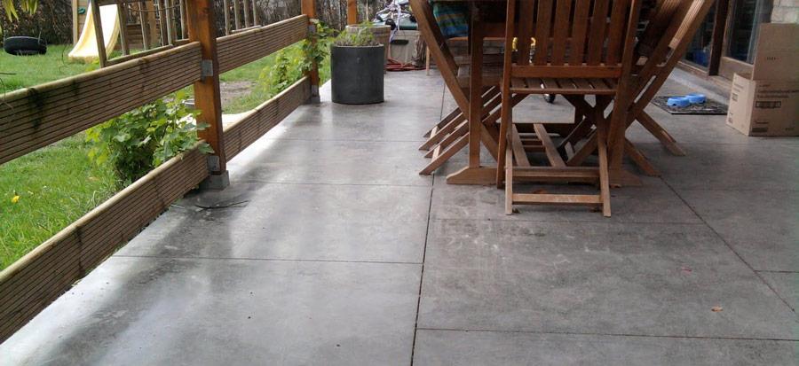 suelo pulido para terraza