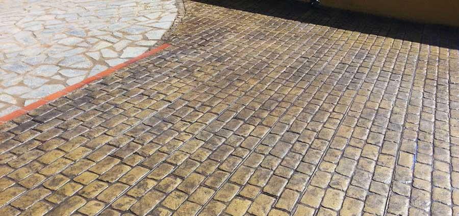 pavimento de hormigón impreso adoquín